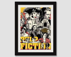 Quadro Pulp Fiction Tarantino Filme N7 Decorativo Paspatur