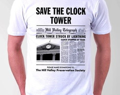 CAMISETA MASCULINA- SAVE THE CLOCK TOWER