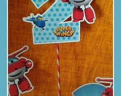 NÚMERO OU LETRA 15 CM SUPER WINGS