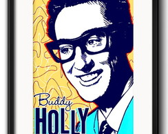 Quadro Buddy Holly Rock com Paspatur