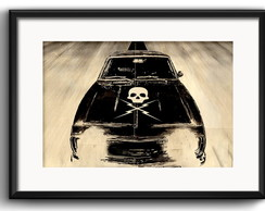 Quadro Death Proof Carro com Paspatur