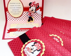 Convite Minnie Pop-up
