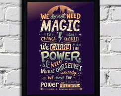 Poster com moldura Harry Potter - Magic