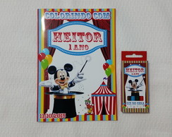 Kit colorir Circo do Mickey