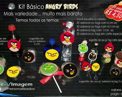 Kit de Adesivos e Tags Angry Birds