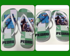 Chinelo infantil personalizado Minecraft