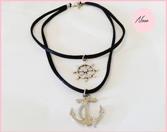 Choker Duo Navy