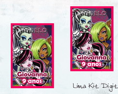 Adesivos Tubetes - Monster High
