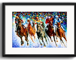 Quadro Jockey Pop Art com Paspatur