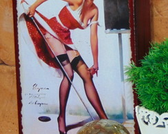 Quadro Vintage Pin Up 2