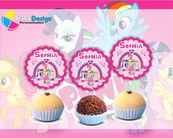 Topper para docinho My Little Pony