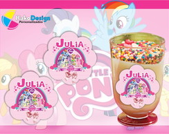 Etiqueta para copinho My Little Pony