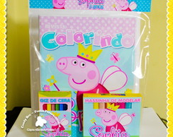Kit Colorir + Massinha Peppa Pig