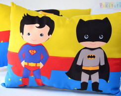 Almofadas Super Man e Batman
