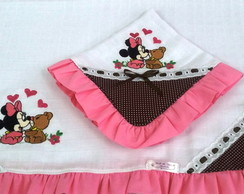 KIT DE FRALDAS BORDADA MINNIE BABY