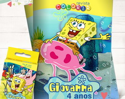 Kit Revista + Giz Bob Esponja