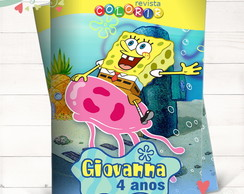 Revista Colorir Bob Esponja