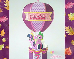 Caixa balão tema Twilight - Little Pony