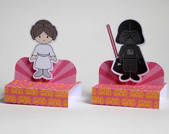 Porta Chocolate Duplo Star Wars Rosa