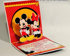 Convite Pop Up Mickey e Minnie