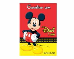 Caderno de Colorir Mickey