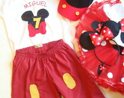 Conjunto Minnie e Mickey