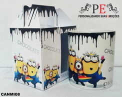 Canecas Minions Chocolate escorrendo