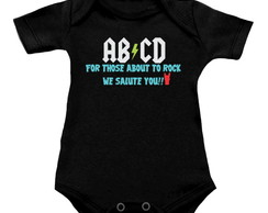 Body OU Camiseta INFANTIL AC/DC - AB/CD