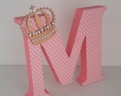 Letras em MDF decorada com papel scrap