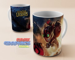 Caneca LOL ZIGGS League of Legends