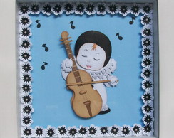 Quadro Paper Sculpture Pierrot