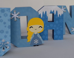 Letra decorada Frozen 3D