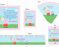 Kit Digital Peppa Pig - Balões