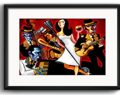Quadro Jazz Band com Paspatur