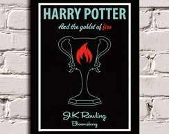 Poster com Moldura Harry Potter - Calice