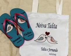 Kit chinelo + Ecobag personalizados