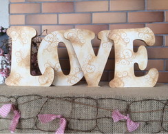 LOVE - Letras Decorativas Evelhecidas