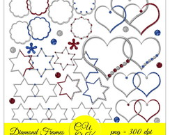 Kit Scrapbook Digital Diamond Frames