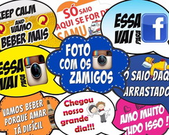 Kit 40 Placas Divertidas