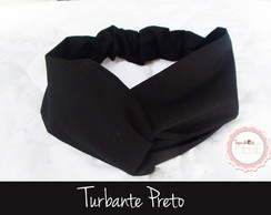 Turbante Infantil e Adulto Preto