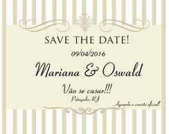 Save The Date imã Casamento