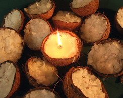 Vela Decorativa no Coco - 10 velas