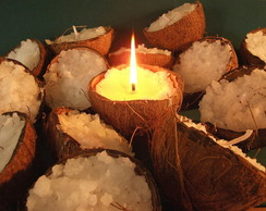 Vela Decorativa- 20 velas no coco