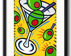 Quadro Cocktail Pop Art com Paspatur