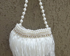 Bolsa para Festa Bordada Off White