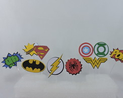 kit topper super herois
