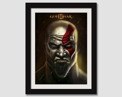 Quadro C/ Moldura 45x35cm Gow God Of War