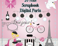 20 Kits Scrap Digital Paris