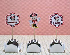 Kit-Toppers para doces com texto- minnie