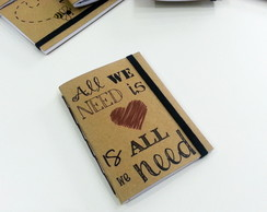 Caderno Kraft Mensagens P - Love is All